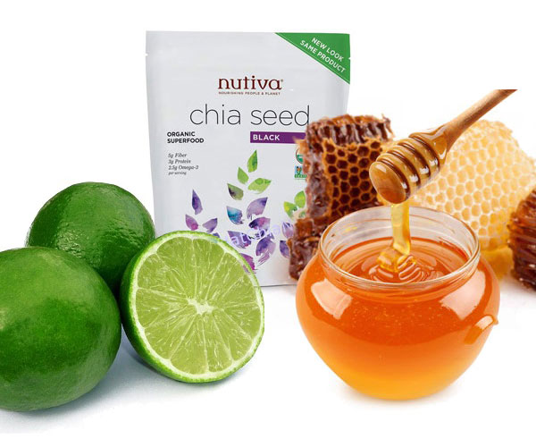 uống hạt chia với nước chanh mật ong
