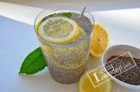 cách uống hạt chia với nước chanh