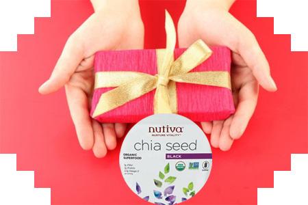 Hạt chia Nutiva làm quà tặng