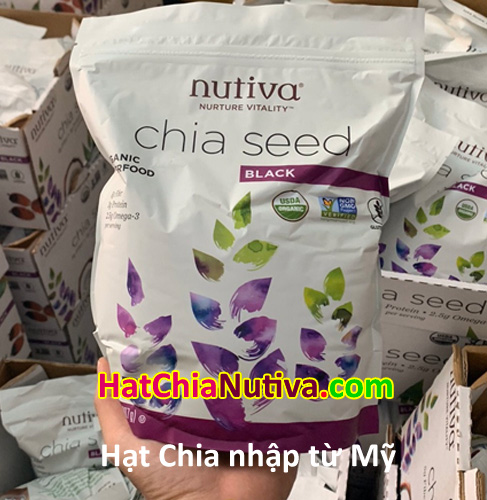 hạt chia Mỹ Nutiva 907gr